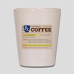 Prescription Coffee Shot Glass