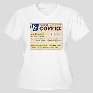 Prescription Coffee Women's Plus Size V-Neck T-Shi