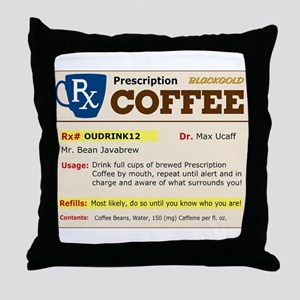 Prescription Coffee Throw Pillow