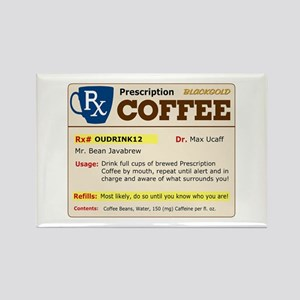 Prescription Coffee Rectangle Magnet