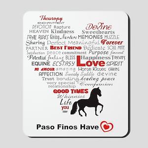 Paso Finos Have Heart Mousepad