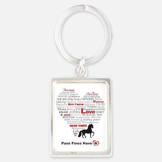 Paso Finos Have Heart Portrait Keychain