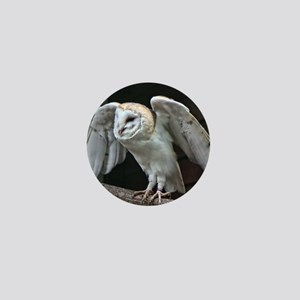 Barn Owl about to fly. Mini Button