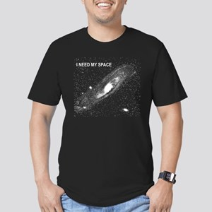 I Need My Space Men's Fitted T-Shirt (dark)