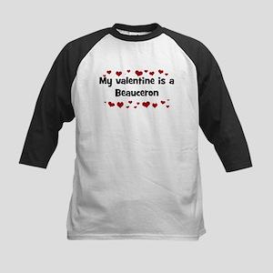 Beauceron valentine Kids Baseball Jersey