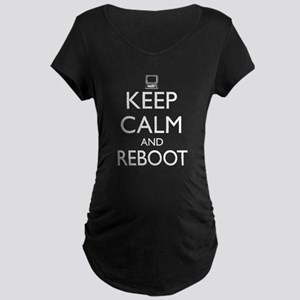 Keep calm and reboot Maternity T-Shirt