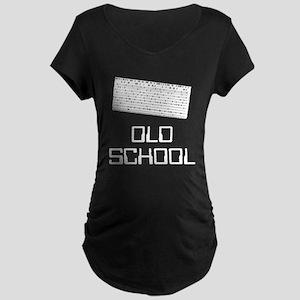 Old school card punch Maternity Dark T-Shirt