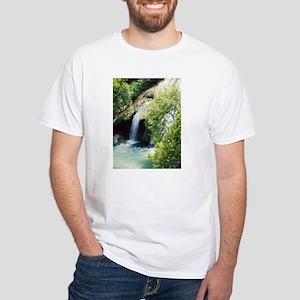 Turner Falls Waterfall White T-Shirt