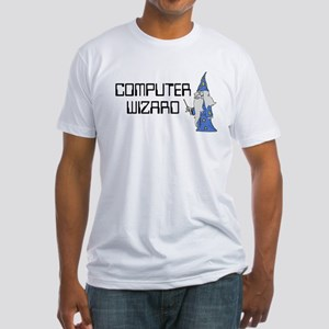 Computer Wizard Fitted T-Shirt