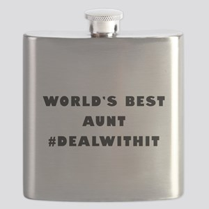 World's Best Aunt (Hashtag) Flask