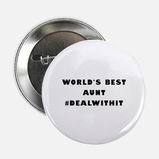 "World's Best Aunt (Hashtag) 2.25"" Button"