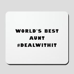 World's Best Aunt (Hashtag) Mousepad