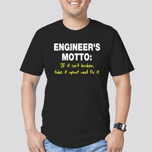 Engineer's Motto Men's Fitted T-Shirt (dark)