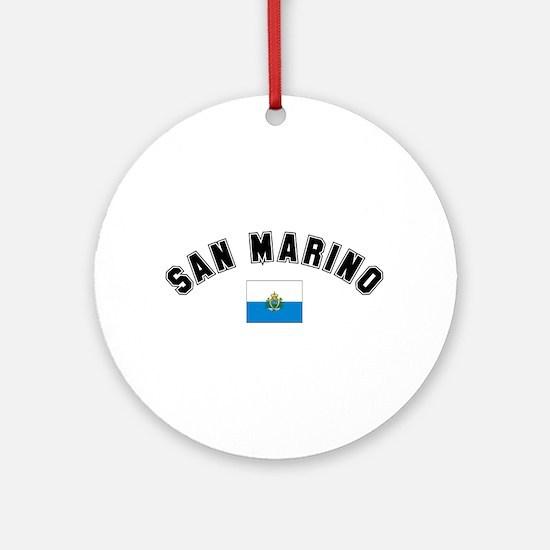 San Marino Flag Ornament (Round)