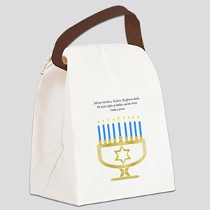 Celebrate Hanukkah Canvas Lunch Bag