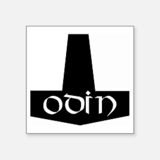 "Odin Hammer Square Sticker 3"" x 3"""