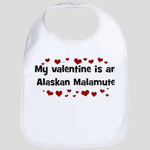 Alaskan Malamute valentine Bib