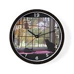 Window View Wall Clock