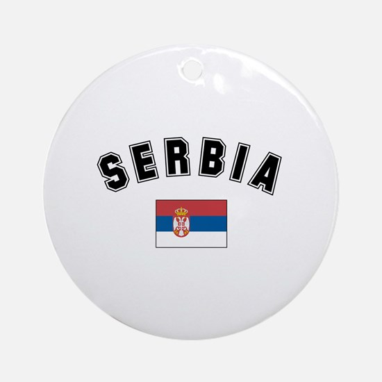 Serbian Flag Ornament (Round)