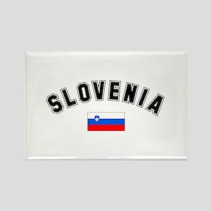 Slovenian Flag Rectangle Magnet