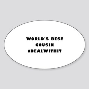 World's Best Cousin (Hashtag) Sticker (Oval)