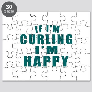 If I Am Curling I Am Happy Puzzle