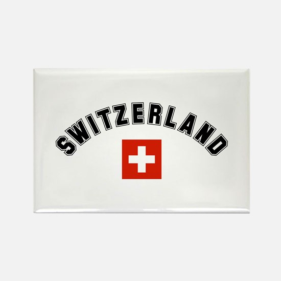 Swiss Flag Rectangle Magnet