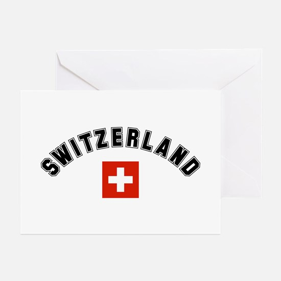 Swiss Flag Greeting Cards (Pk of 10)