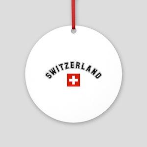 Swiss Flag Ornament (Round)