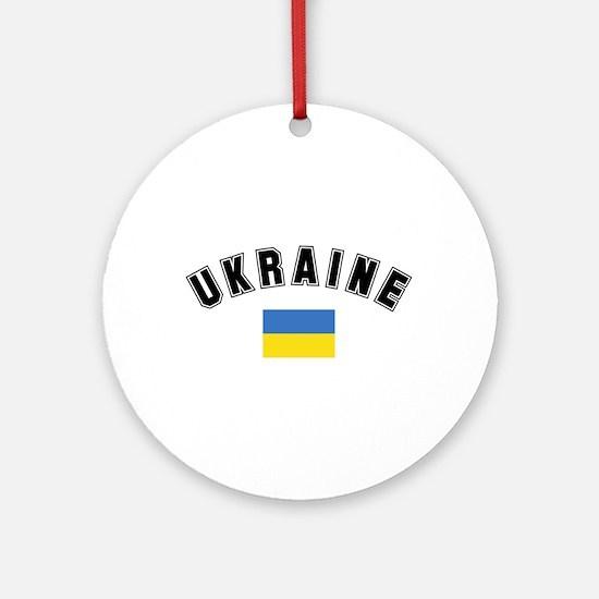 Ukrainian Flag Ornament (Round)