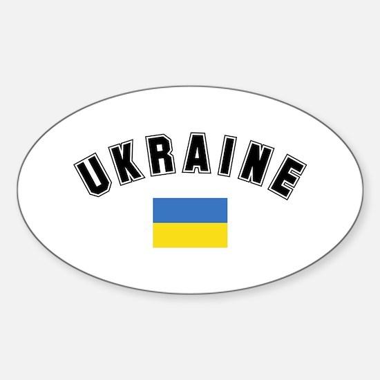 Ukrainian Flag Oval Decal