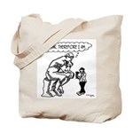 The Thinker Thinks Therefore I Am Tote Bag