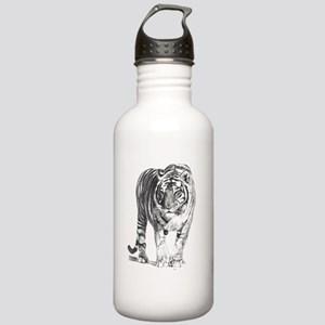Bengal Tiger Sketch Sports Water Bottle