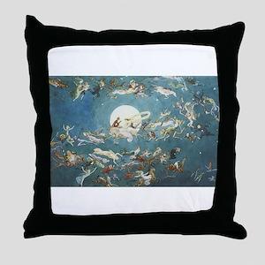Dance Around the Moon Throw Pillow