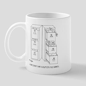 A Cartoonist's & A Sculptor's File Cabinets Mug
