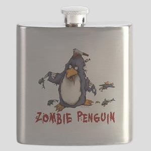 Zombie Penguin Flask
