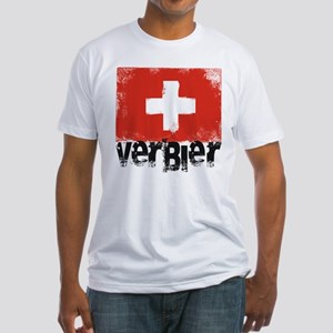 Verbier Grunge Flag Fitted T-Shirt