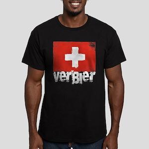 Verbier Grunge Flag Men's Fitted T-Shirt (dark)
