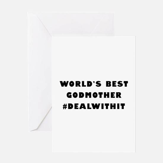 World's Best Godmother (Hashtag) Greeting Card