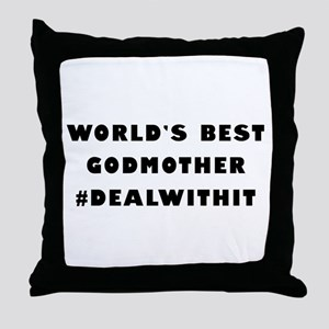 World's Best Godmother (Hashtag) Throw Pillow
