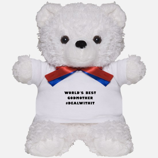 World's Best Godmother (Hashtag) Teddy Bear