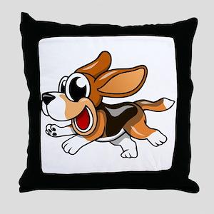Cartoon Beagle Throw Pillow