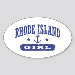 Rhode Island Girl Sticker (Oval)