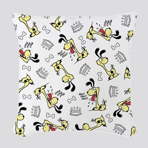 Vintage Odie Woven Throw Pillow