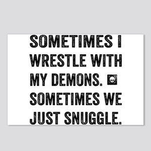 Wrestle With My Demons Postcards (Package of 8)