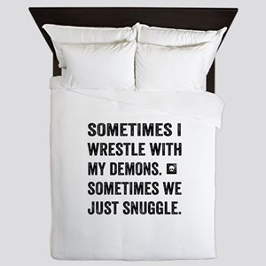 Wrestle With My Demons Queen Duvet