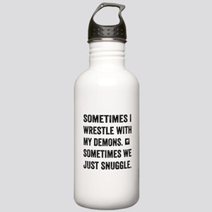 Wrestle With My Demons Water Bottle