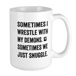 Wrestle With My Demons Mugs