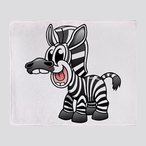Cartoon Zebra Throw Blanket