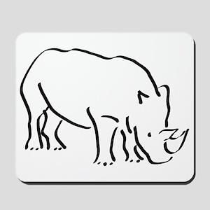 Rhinoceros Drawing Mousepad